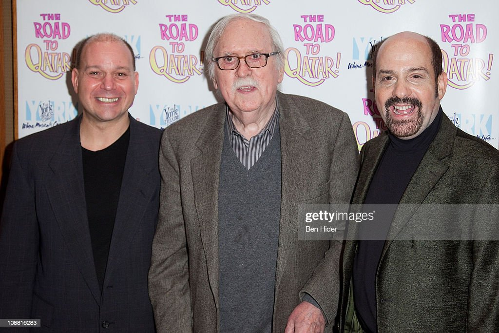 Composer David Krane, Writer Thomas Meehan and Composer Stephen Cole attend the Off-Broadway opening night of 'The Road to Qatar' at The York Theatre at Saint Peter's on February 3, 2011 in New York City.