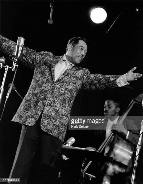 Composer Duke Ellington performs onstage in 1959 in New York, New York.