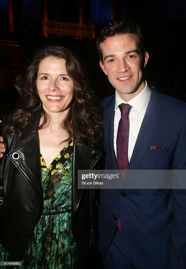 Composer Edie Brickell and A J  Shively pose at the Opening