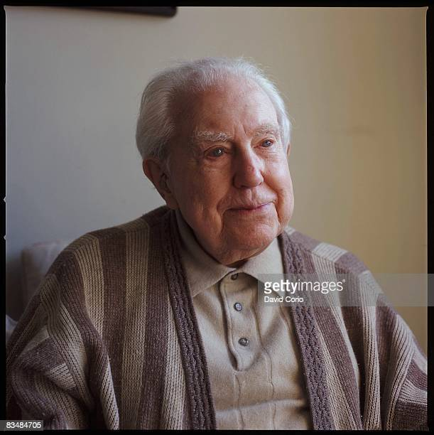 Composer Elliot Carter at his home on W 12th Street on January 9, 2006 in New York City, New York.