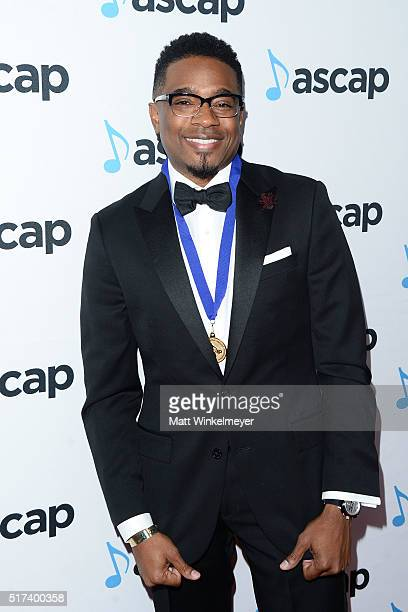 Composer Elvin Ross arrives at the 2016 ASCAP Screen Music Awards at The Beverly Hilton Hotel on March 24 2016 in Beverly Hills California