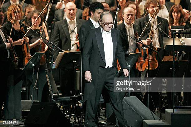 Composer Ennio Morricone is seen at Radio City Music Hall on February 3 2007 in New York City