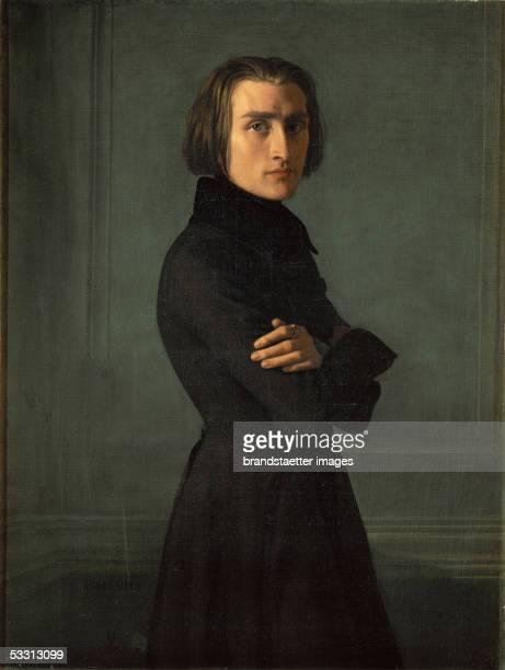 Composer Franz Liszt 1838 Canvas 140 x 87 cm By Henri Lehmann Musee Carnavalet Paris France [Franz LisztGemaelde von Henri Lehmann 1838Musee...