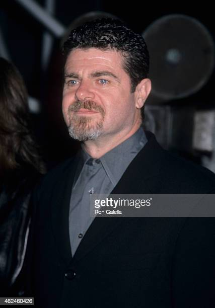 Composer Gustavo Santaolalla attends the 'Amores Perros' Hollywood Premiere on March 27 2001 at GCC Galaxy 6 Theatres in Hollywood California