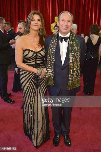 Composer Hans Zimmer and Dina De Luca attend the 87th Annual Academy Awards at Hollywood Highland Center on February 22 2015 in Hollywood California
