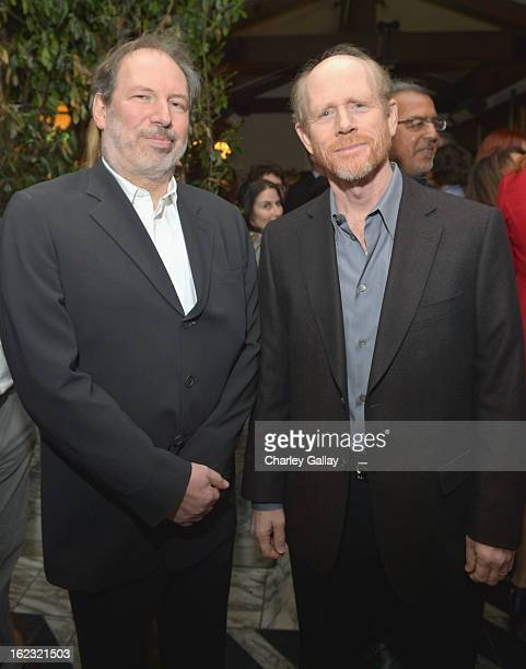 "Composer Hans Zimmer and filmmaker Ron Howard attend Vanity Fair and the Fiat brand Celebration of ""Una Notte Verde"" with Hans Zimmer and Ron Howard..."