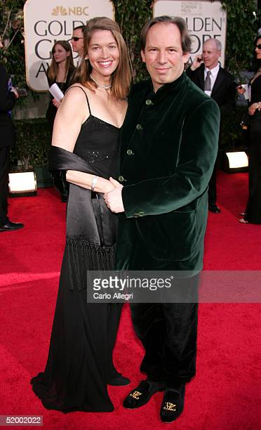 Composer Hans Zimmer and wife Suzanne arrive at the 62nd Annual Golden Globe Awards at the Beverly Hilton Hotel January 16 2005 in Beverly Hills...