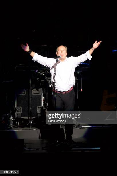 Composer Hans Zimmer performs at Microsoft Theater on April 14 2017 in Los Angeles California
