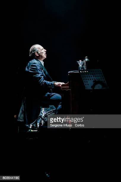 Composer Hans Zimmer performs on stage on June 29 2017 in Milan Italy