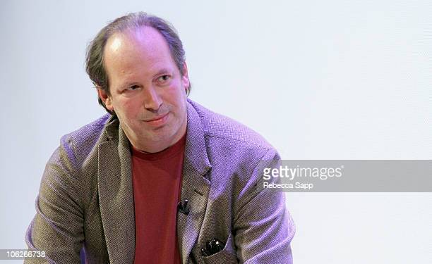 Composer Hans Zimmer speaks onstage at The GRAMMY Museum on October 27 2010 in Los Angeles California