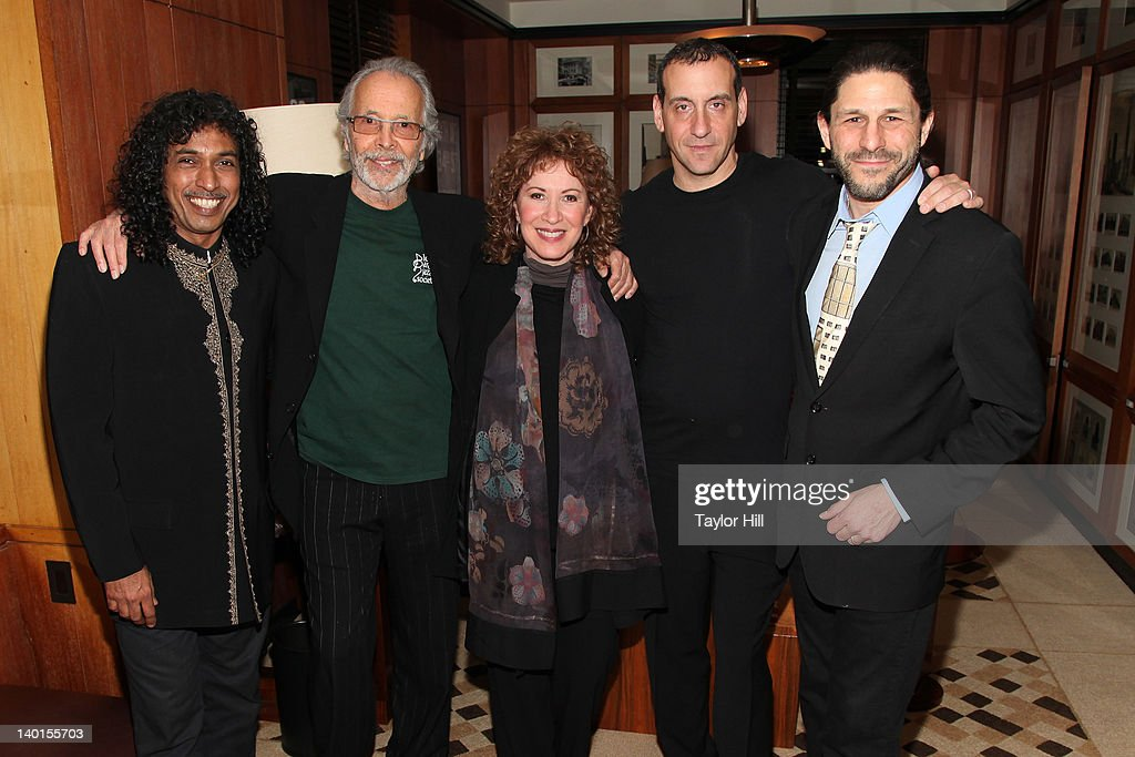 Composer Herb Alpert, Lani Hall, and his band attend the