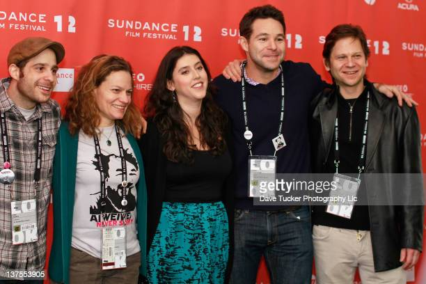Composer Ilan Isakov film editor Jennifer Fineran director Alison Klayman producer Adam Schlesinger and producer Andrew Cohen attend the 'Ai Weiwei'...