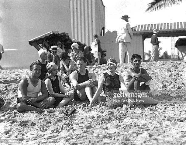 Composer Irving Berlin and a group of his artistic friends [l to r] Ray Goetz Dorathy Parker the writer William Emmerick Neysa McEin the well known...