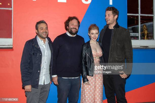 Composer James Edward Barker Producer Tom Nash actress Eleanor WorthingtonCox and Director William McGregor at a photo call during the UK film...