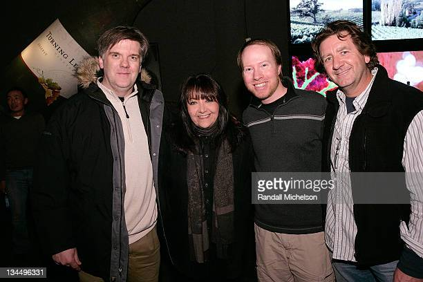 Composer JeanMichel Bernard Doreen Ringer Ross BMI composer Bill Brown and composer Claude Foisy attend the BMI Big Crowded Room Party at the Leaf...