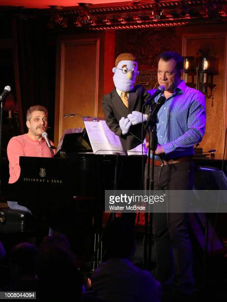 Composer Jeff Marx and John Tartaglia during the 'Avenue Q' 15th Anniversary Reunion Concert at Feinstein's/54 Below on July 30 2018 in New York City