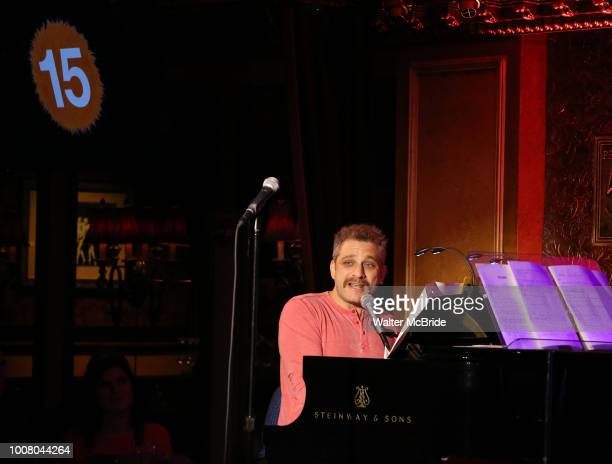 Composer Jeff Marx during the 'Avenue Q' 15th Anniversary Reunion Concert at Feinstein's/54 Below on July 30 2018 in New York City