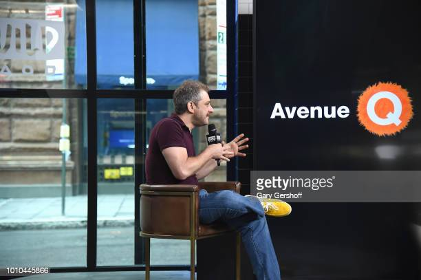 Composer Jeff Marx visits Build Series to discuss the Broadway show Avenue Q at Build Studio on August 3 2018 in New York City