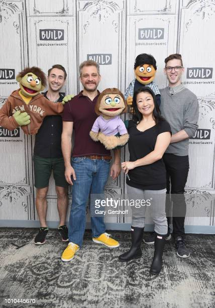 Composer Jeff Marx with performers Jason Jacoby Katie Boren and Ben Durocher visit Build Series to discuss the Broadway show Avenue Q at Build Studio...