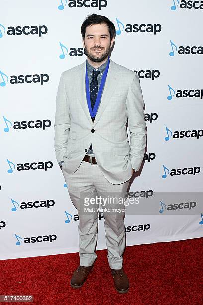 Composer Jeff Peters arrives at the 2016 ASCAP Screen Music Awards at The Beverly Hilton Hotel on March 24 2016 in Beverly Hills California