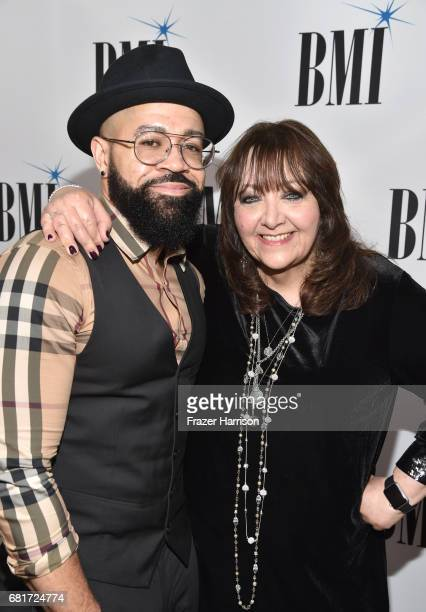 Composer Jim Beanz and BMI VP Film TV Visual Media Relations Doreen RingerRoss at the 2017 Broadcast Music Inc Film TV Visual Media Awards at the...