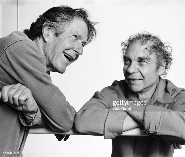 Composer John Cage and dancer and choreographer Merce Cunningham photographed in September 1986