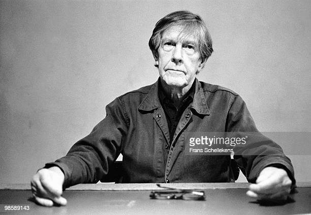 Composer John Cage posed at Paradiso in Amsterdam Netherlands on November 15 1988