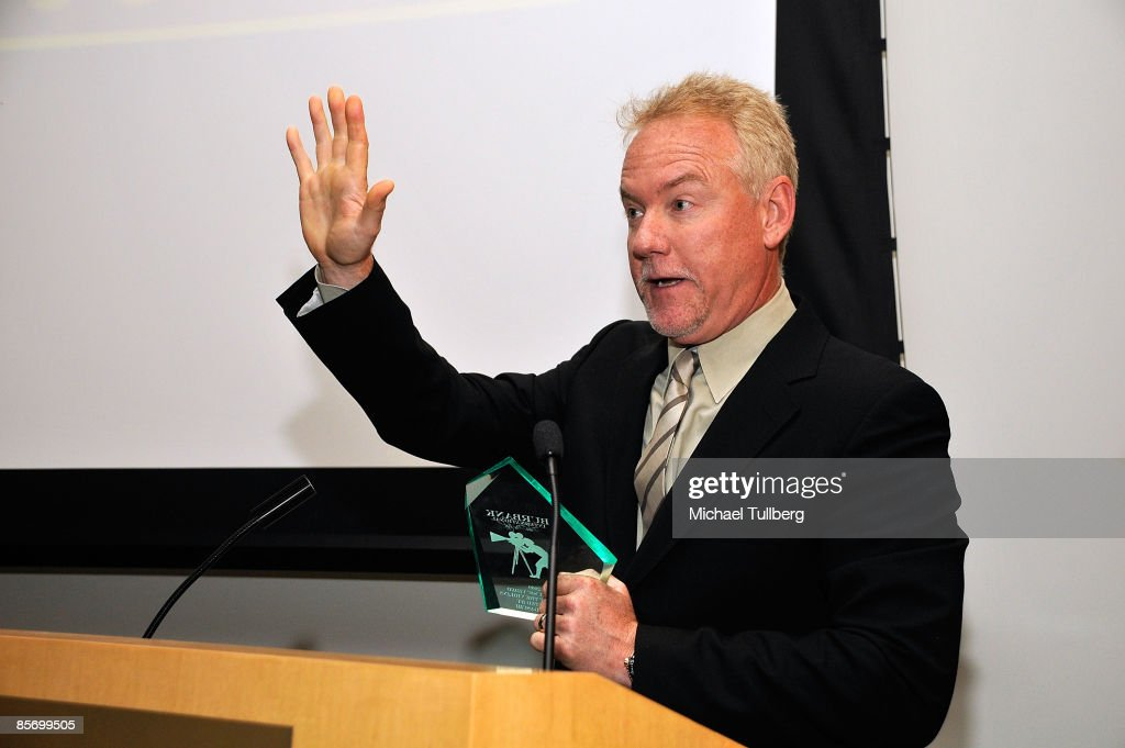 Composer John Debney accepts the award for Achievement in Music at the Closing Night Gala for the 1st Annual Burbank International Film Festival, held at Woodbury University on March 29, 2009 in Burbank, California.