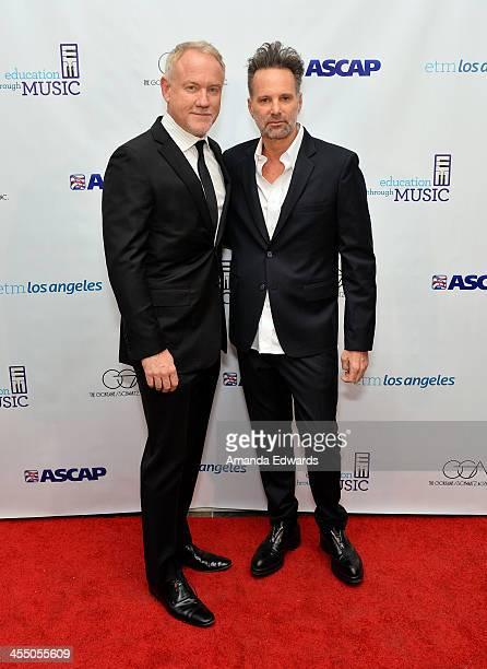 Composer John Debney and Nylon Magazine EditorinChief Marvin Scott Jarrett arrive at the 8th Annual Education Through Music Los Angeles Benefit Gala...