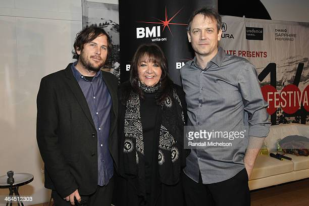 Composer John Dragonetti BMI's Doreen RingerRoss director Brian Knappenberger attends BMI's 16th Annual Composer/Director Roundtable Music Film The...