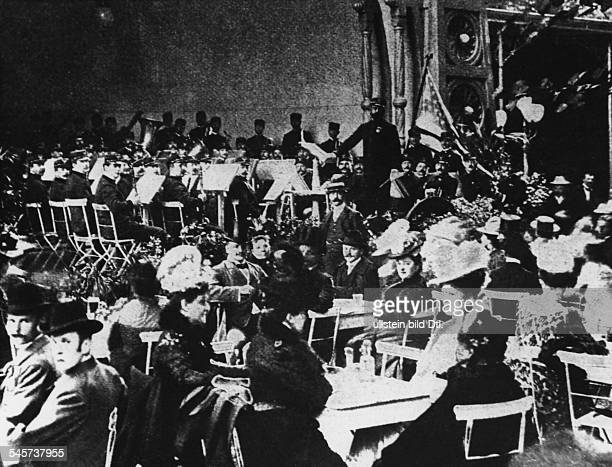 Composer John Philip Sousa and his North American military band giving a concert in the Kroll Opera House