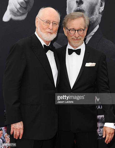 Composer John Williams and director Steven Spielberg attend the 44th AFI Life Achievement Awards gala tribute at Dolby Theatre on June 9 2016 in...