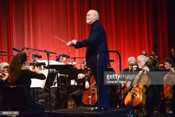 Composer John Williams attends the 40 Years of Star Wars panel during the 2017 Star Wars Celebrationat Orange County Convention Center on April 13...