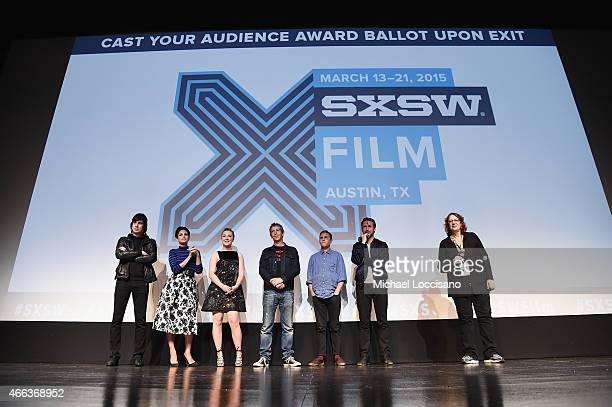 Composer Johnny Jewel actors Eva Mendes Saoirse Ronan Ben Mendelsohn and Iain De Caestecker director/writer Ryan Gosling and SXSW Film Festival...