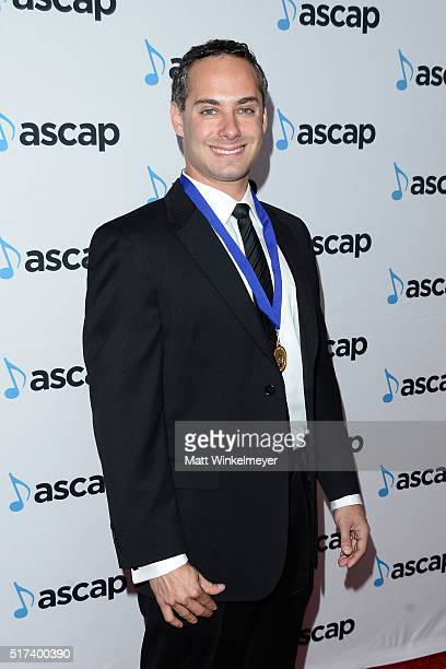 Composer Josh Klein arrives at the 2016 ASCAP Screen Music Awards at The Beverly Hilton Hotel on March 24 2016 in Beverly Hills California