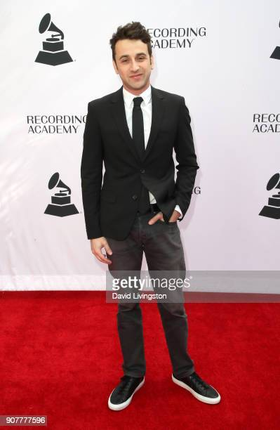 Composer Justin Hurwitz attends the GRAMMY nominee reception honoring 60th Annual GRAMMY Awards nominees at Fig Olive on January 20 2018 in West...