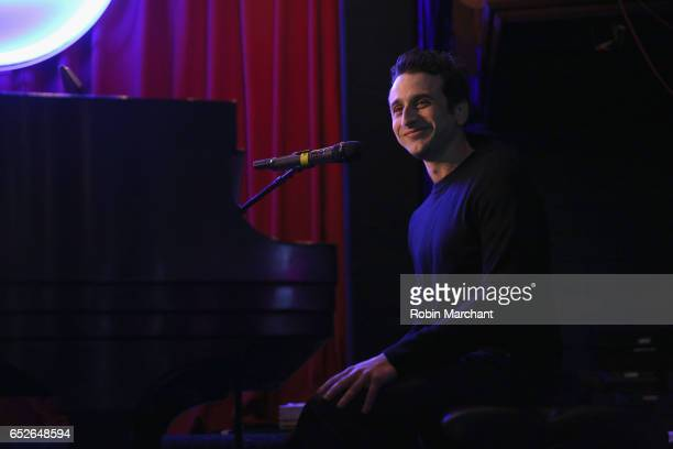 Composer Justin Hurwitz performs during An Evening of La La Land Music at Lionsgate Lounge at Cedar Street Courtyard on March 12 2017 in Austin Texas
