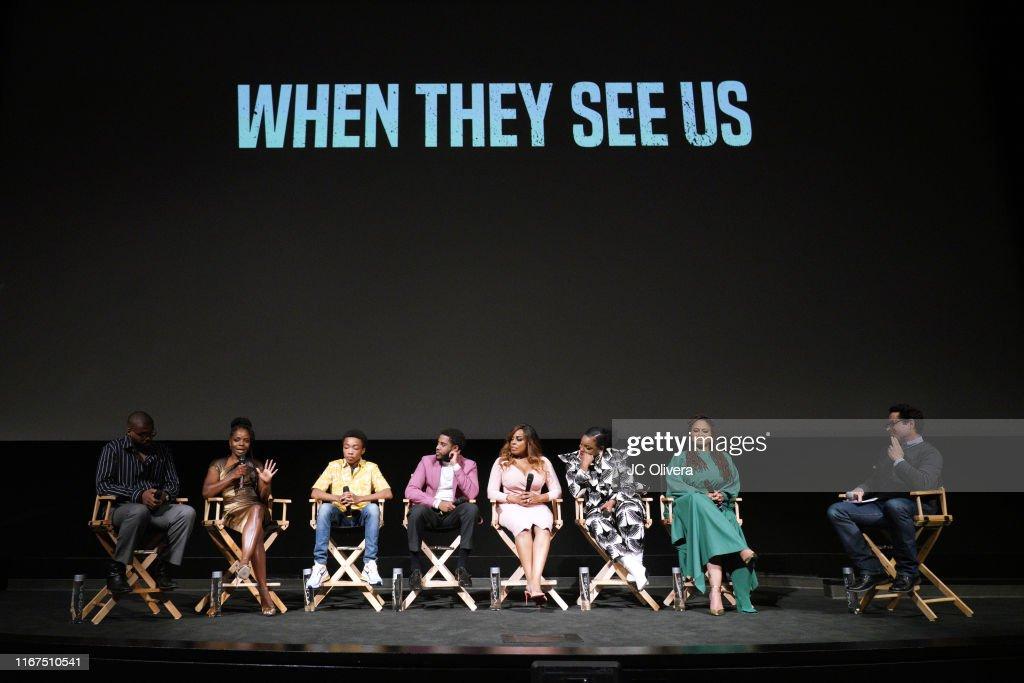 """FYC Event For Netflix's """"When They See Us"""" - Panel : Fotografía de noticias"""