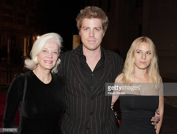 "Composer Kyle Eastwood with his mother Maggie Johnson at the premiere of Warner Bros. Picture's ""Rails & Ties"" at the Steven J. Ross Theater on the..."