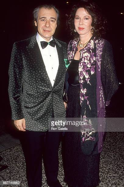 Composer Lalo Schifrin and wife Donna attend the 12th Annual CableACE Awards NonBroadcast Ceremony on January 11 1991 at the Beverly Wilshire Hotel...