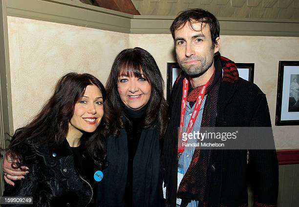 Composer Lili Haydn BMI Executive Doreen RingerRoss and Composer Andrew Bird attend the BMI Sundance Dinner at Zoom Restaurant on January 22 2013 in...