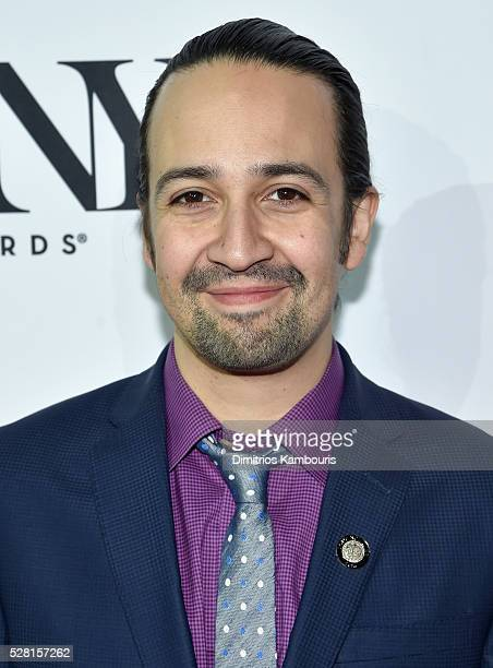Composer LinManuel Miranda attends the 2016 Tony Awards Meet The Nominees Press Reception on May 4 2016 in New York City
