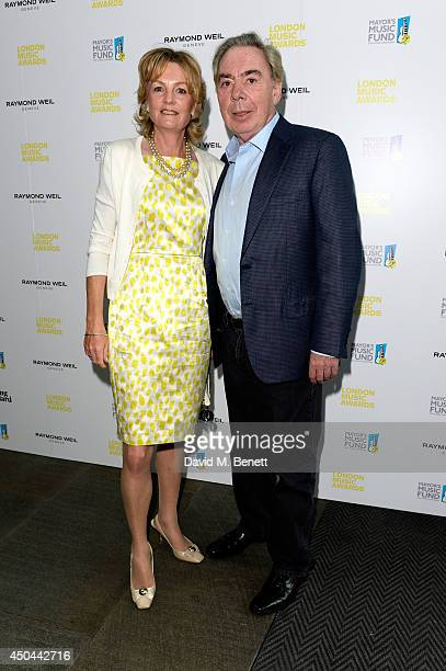 Composer Lord Andrew Lloyd Webber and his wife Lady Madeleine Lloyd Webber attend the inaugural London Music Awards which took place at The...