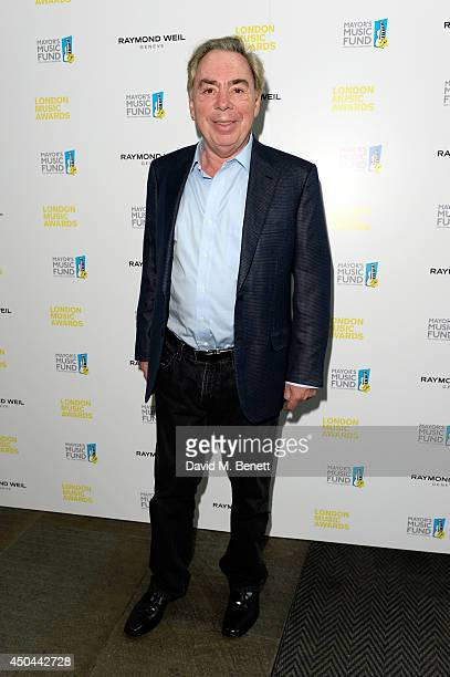 Composer Lord Andrew Lloyd Webber attends the inaugural London Music Awards which took place at The Roundhouse on June 11 2014 in London England