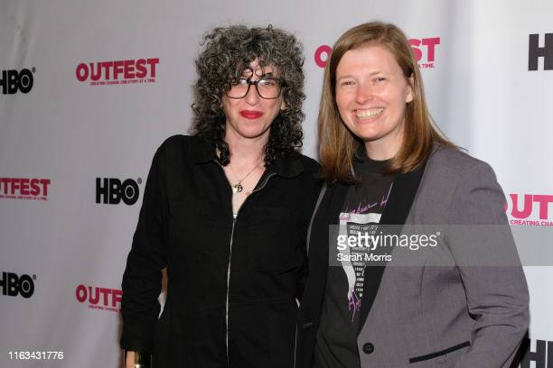 Composer Lori Scacco and director Megan Rossman attend the 2019 Outfest Los Angeles LGBTQ Film Festival screening of Archivettes at TCL Chinese 6...