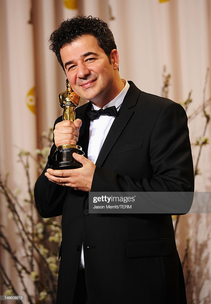 Composer Ludovic Bource, winner of the Best Original Score Award for 'The Artist,' poses in the press room at the 84th Annual Academy Awards held at the Hollywood & Highland Center on February 26, 2012 in Hollywood, California.