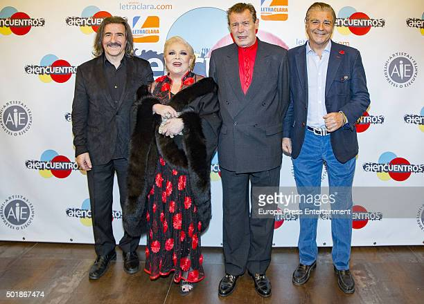 Composer Luis Cobos singer Concha Marquez Piquer Ramiro Oliveros and Maximo Valverde attend 'Asi era mi madre' book presentation on December 17 2015...