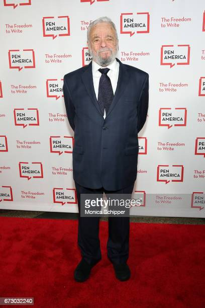 Composer lyricist and honoree Stephen Sondheim attends the 2017 PEN America Literary Gala at American Museum of Natural History on April 25 2017 in...