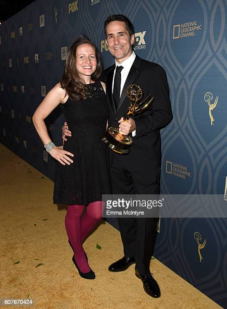 Composer Mac Quayle and guest attend the FOX Broadcasting Company FX National Geographic And Twentieth Century Fox Television's 68th Primetime Emmy...
