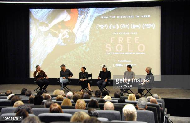 Composer Marco Beltrami Tim McGraw director and producer Elizabeth Chai Vasarhelyi director producer and cinematographer Jimmy Chin featured climber...